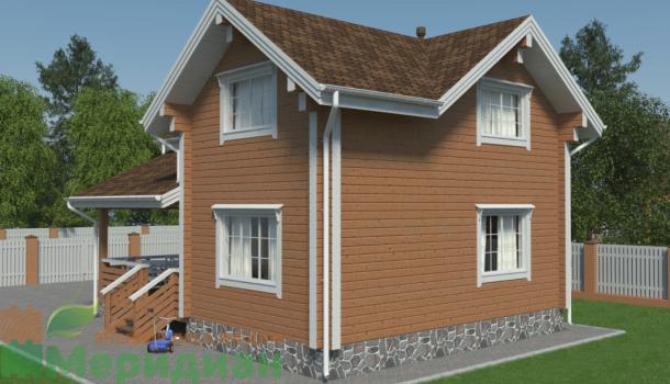 одноэтажный дом из клееного бруса 150м2