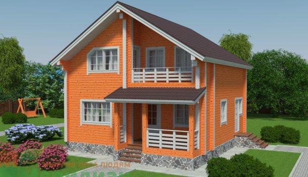 П�оек�� де�евянн�� домов до 120 ме��ов кв из клееного б���а